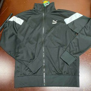Puma Mens Black Full Zip Track Jacket Size Medium